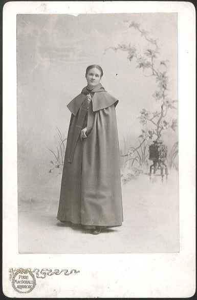 [Sister Emma Jane Neale Wearing a Cloak, Front View], Mount Lebanon, NY, ca. 1900. 1951.4235.1