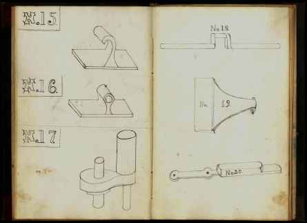 """Patterns of Shaker Washing Machine and Mangle,"" Church Family, Canterbury, New Hampshire, ca. 1875, Shaker Museum | Mount Lebanon, 1952.5114.1."