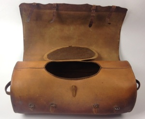 Mail Bag (interior), North Family, Mount Lebanon, NY, 1848, Shaker Museum | Mount Lebanon, 1953.6621.1.