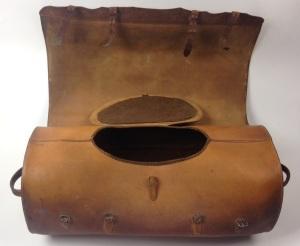 Mail Bag (interior), North Family, Mount Lebanon, NY, 1848, Shaker Museum | Mount Lebanon, 1953.6621.1.