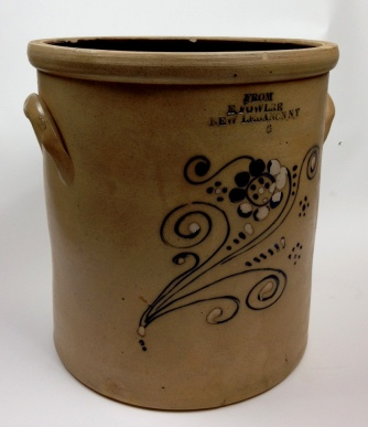 Stoneware Pot, Church and Center Family, Mount Lebanon, NY, 1853-1866/7, Shaker Museum | Mount Lebanon, 1961.12805.1