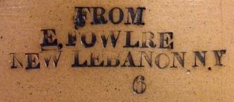 Stoneware Pot, Church and Center Family (detail of inscription), Mount Lebanon, NY, 1853-1866/7, Shaker Museum | Mount Lebanon, 1961.12805.1