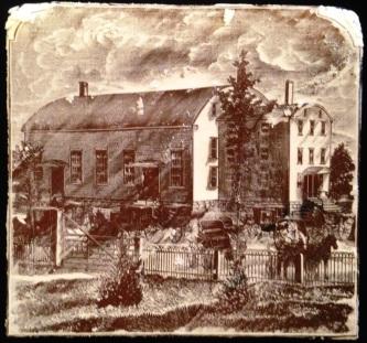 Printing Block of Mount Lebanon Meetinghouse, Hiram Ferguson, Albany, NY, ca. 1883, Shaker Museum | Mount Lebanon, 1957.8469.1