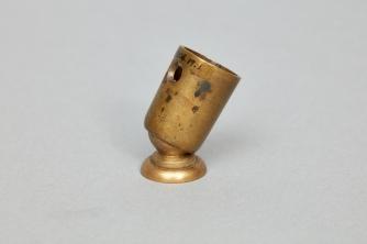 Brass Tilter Button, Second Family, Mount Lebanon, NY, ca. 1852, Shaker Museum | Mount Lebanon: 2008.19.1.