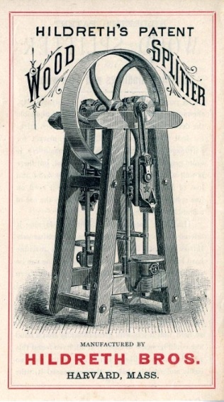 Advertising Brochure, Hildreth's Patent Wood Splitter