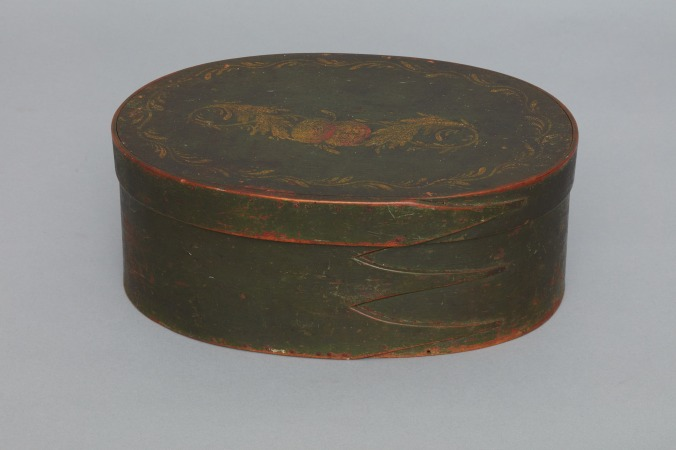 Oval box, Origin Unknown, ca. 1800