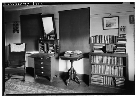 "Photograph, ""Eldress Room,"" South Family Dwelling, Mount Lebanon, NY, 1930, Historic American Buildings Survey, http://hdl.loc.gov/loc.pnp/hhh.ny0118/photos.115359p, William F. Winter, Jr., photographer."