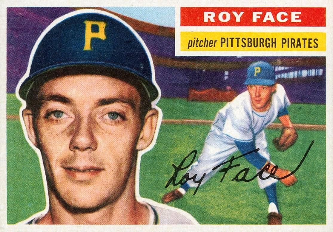 "Baseball Card, ""Roy Face, Pittsburgh Pirates, "" 1958"