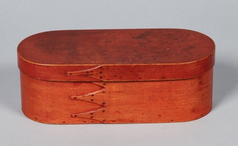 Bentwood Box, Alfred, ME, ca. 1840
