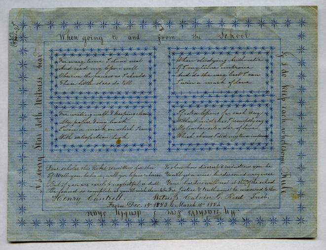EldressPolly Jane (Ann) Reed, Reward of Merit for Henry Cantrell