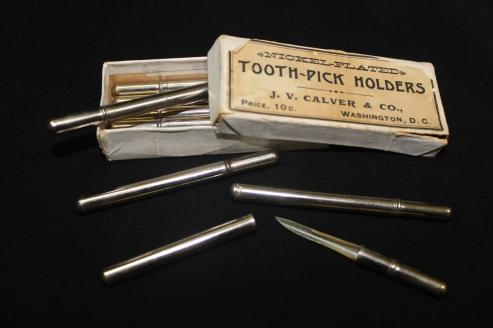 Box of Tooth-Pick Holders, J. V.Calver& Co., Washington, D. C., ca. 1895