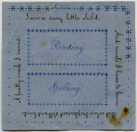 EldressPolly Jane (Ann) Reed, Reward of Merit forSylvinaClyne, Church Family, Mount Lebanon, NY, 1854, Shaker Museum | Mount Lebanon: 1963.14403.1.