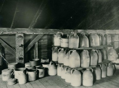 Stoneware Vessels in the Attic of a Building at Mount Lebanon, NY, ca. 1930s