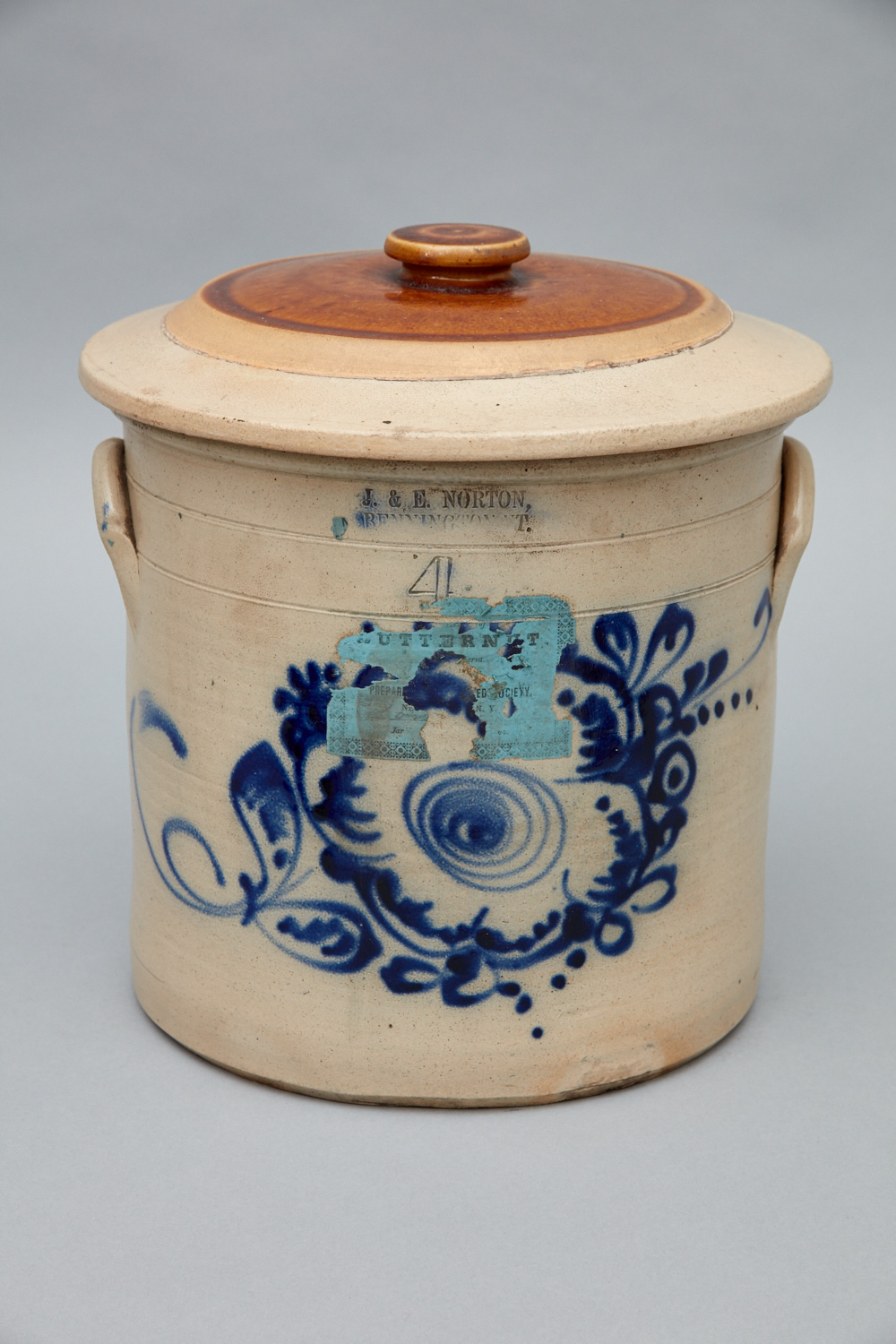 Stoneware Crock, Church Family, Mount Lebanon, NY, ca. 1850,