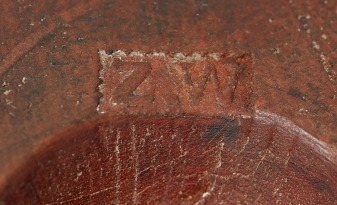 "Emery Mold (detail of ""Z. W."" stamp), Church Family, Mount Lebanon, NY, ca. 1845"