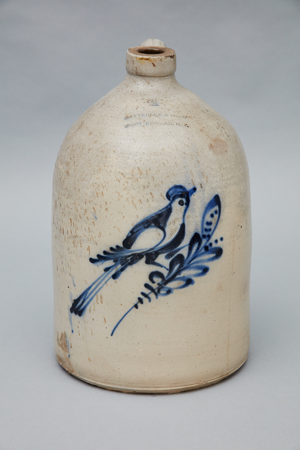 Stoneware Jug, Church Family, Mount Lebanon, NY, 1861-1885