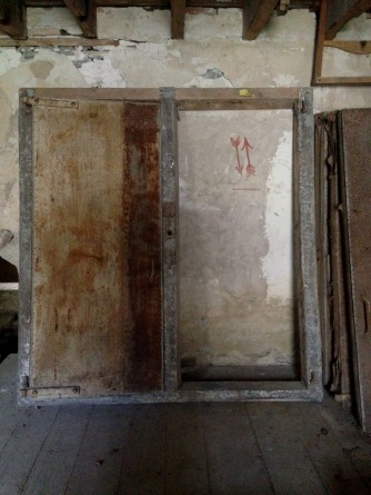 Fruit House Door Frame and Door, North Family, Mount Lebanon, NY, 2018. Staff photograph.