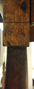 Fig. 2 SideTable(detail of turning transition),Canterbury, NH, Ca. 1850s, Shaker Museum |Mount Lebanon:1972.17507.1