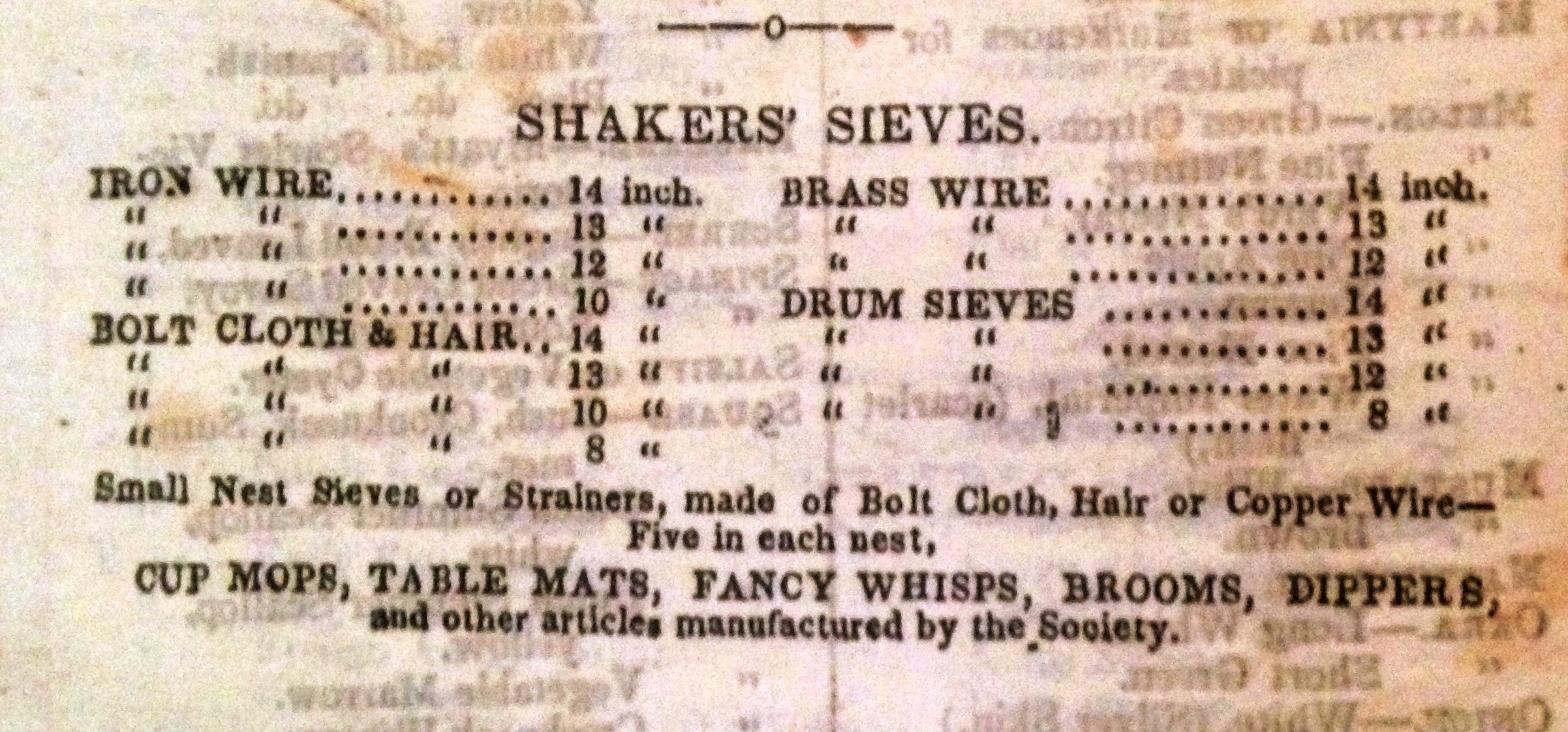 """""""Shakers' Sieves,""""Annual Wholesale Herbalist's Catalogue of Medicinal Plants, and Botanical Remedies"""