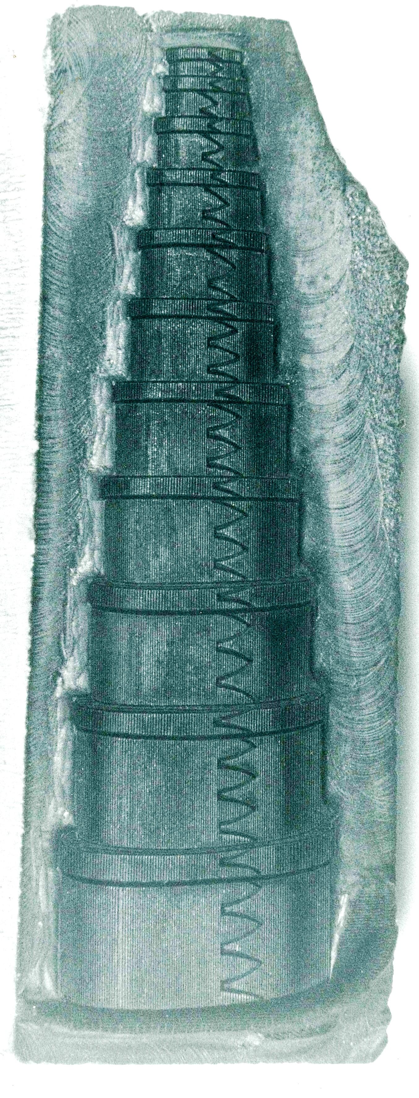 Print Block,Eleven Oval Boxes, Hiram Ferguson, Albany, NY,ca. 1875