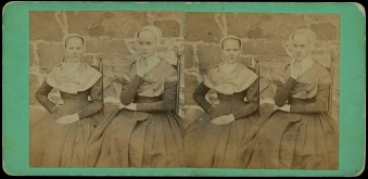 Sister Cornelia Charlotte Neale and Sarah Neale, North Family,Watervliet, NY, ca. 1869, Hamilton College, Special Collections, Shaker Collection.James Irving, photographer.