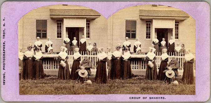 Group of Shakers, [North Family, Mount Lebanon, NY], ca. 1871