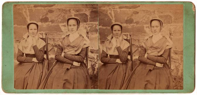 Sister Cornelia Charlotte Neale and Sarah Neale, North Family,Watervliet, NY, ca. 1869,Hamilton College, Special Collections, Shaker Collection.James Irving, photographer.