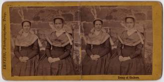 Sister Cornelia Charlotte Neale and Sarah Neale, North Family, Watervliet, NY, ca. 1869, Shaker Museum | Mount Lebanon: 1959.11312.1. James Irving, photographer.