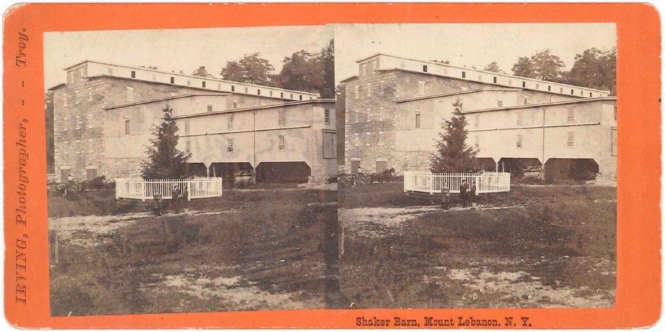 Shaker Barn, North Family, Mount Lebanon, NY,ca. 1870