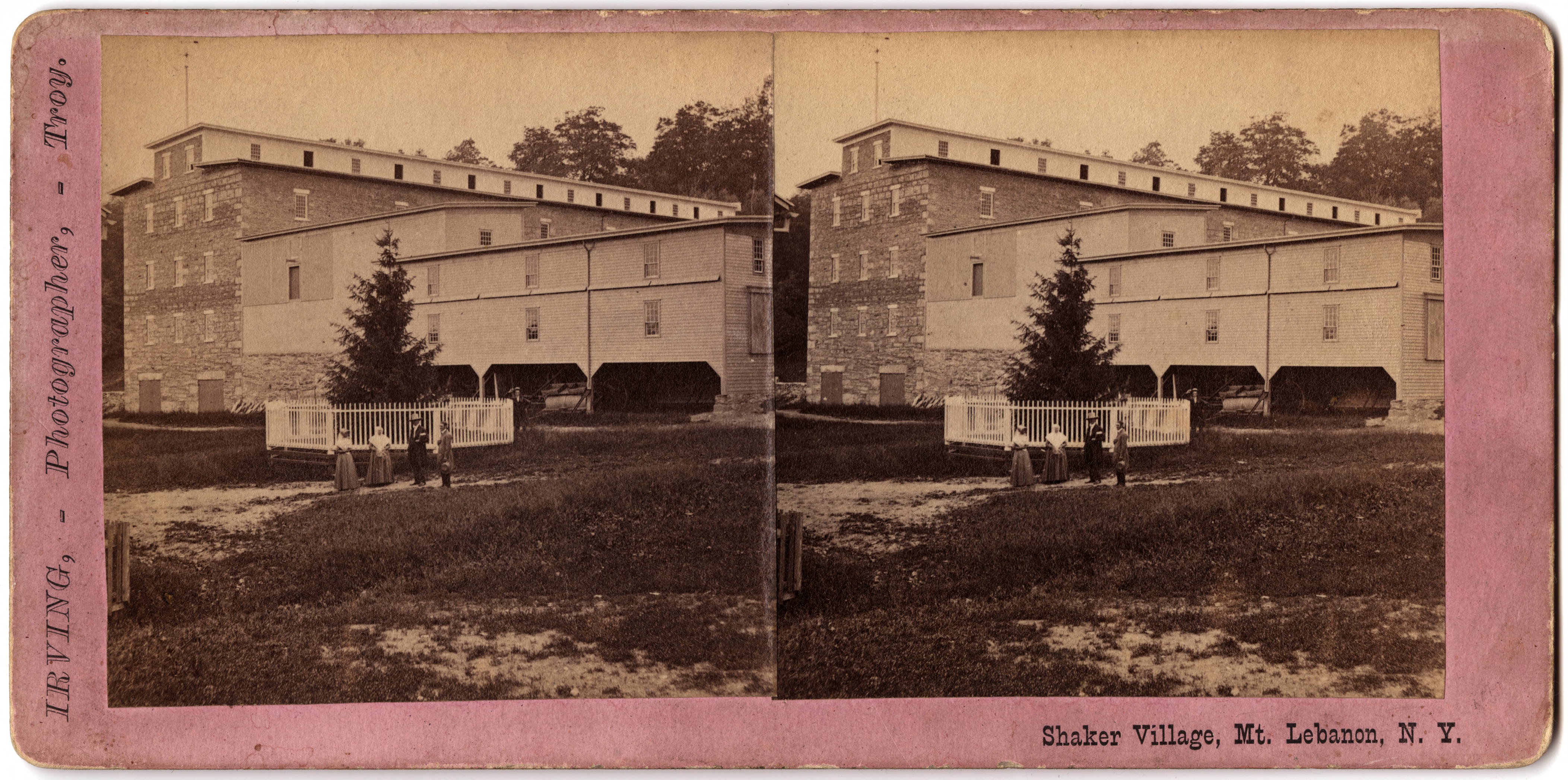 Shaker Barn, North Family, Mount Lebanon, NY, ca. 1870